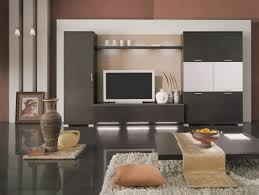 simple interior of a living room with additional furniture home