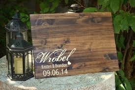personalized guestbook rustic wedding guest book wood guest book rustic wedding guest