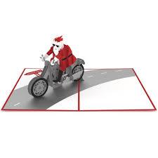 santa biker pop up card lovepop