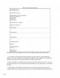 Business Letter Return Address business letter luxury business letter in block format business