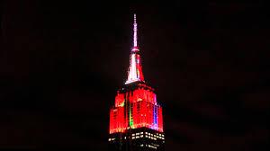 empire state building lights tonight empire state building holiday light show 2014 night 3 youtube