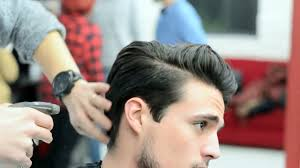 mens hair modern slick back faded undercut haircut and style
