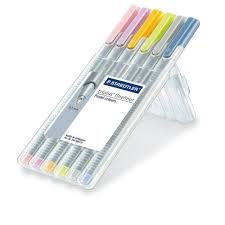 triplus fineliner pastel colours pack of 6 staedtler from
