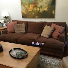 beautiful pillows for sofas brown couch blues mini makeover before and after classic casual