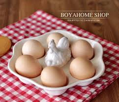 ceramic egg trays creative white ceramic egg plate porcelain egg tray container
