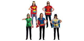 super easy female superhero t shirt costumes and accessories only