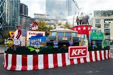 kfc float in the brand s macy s thanksgiving day parade