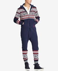 mens one jumpsuit polo ralph s fair isle jumpsuit pajamas lounge