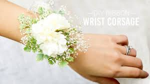 how to make wrist corsage diy ribbon wrist corsage simple and easy