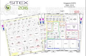 Sony Centre Floor Plan Sitex 2016 24 U2013 27 Nov Singapore Expo Halls 5 U0026 6