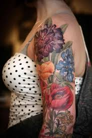 floral tattoo quarter sleeve the xerxes negative space s flowers by jon negative floral quarter