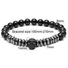 skull bracelet charm images Buy mcllroy hot black titanium steel skull jpg