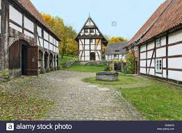 group of old cottage houses from the seventeenth century germany