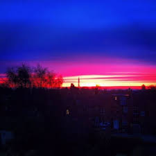 Weather Hale Barns Pictures Stunning Sunrise Over Greater Manchester As Warmer