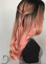 hombre style hair color for 46 year old women 65 rose gold hair color ideas for 2017 rose gold hair tips