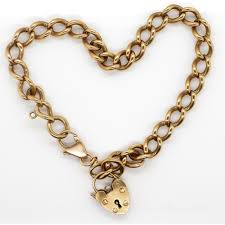 link bracelet with heart charm images 9ct gold bracelet and charm large cuban link bracelet with heart JPG