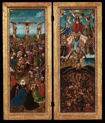 the crucifixion the last judgment jan van eyck and and workshop
