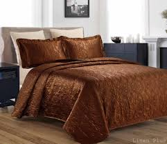 Ivory Quilted Bedspread Coverlet Sets 3 Piece Silky Satin Quilted Bedspread Coverlet Set