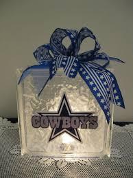 dallas cowboy ribbon dallas cowboy fans glass block we how to do it