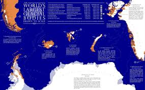 World Map To Scale by The World U0027s Largest Glacial Bodies Drawn To Scale Oc 2048 X 1268