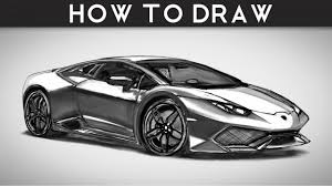 lamborghini drawing lamborghini huracan how to draw how to draw a sports car step by