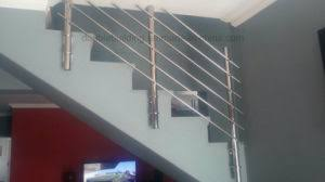 Cement Stairs Design China Concrete Stairs Stainless Steel Railing Design Side Mount