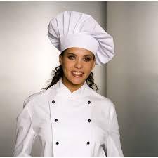 chef cuisine femme toque chef cuisinier fermeture facile par velcro taille ajustable