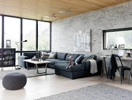 living room amazing living room ideas with black fabric sofa and