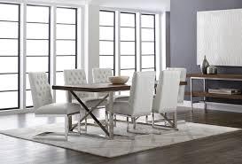Sunpan Dining Chairs Sunpan Catalan Dining Table And Cavalli Dining Chairs