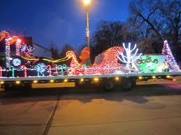 christmas light parade floats rensselaer adventures christmas parade 2015