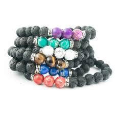 fashion stone bracelet images Lava stone diffuser bracelet multiple colors buy online or jpg