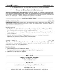Sample Human Resource Manager Resume Sample Of Human Resources Assistant Resume Make A Business Plan