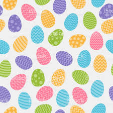 easter wrapping paper background with easter eggs concept of a wrapping paper vector