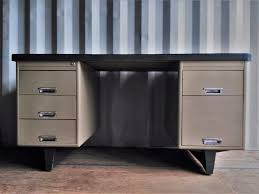 Vintage Desk With Hutch by Sold Vintage Rubber Top Metal Desk Cambrewood