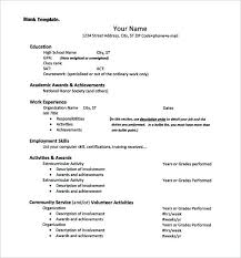 exle resume for community service officer resume college template free word excel