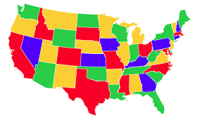 us map states by color color map of the united states thefreebiedepot