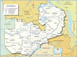 map of zambia administrative map of zambia nations project