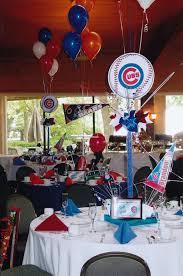 cubs u0026 bears baseball party decor centerpieces bar mitzvah