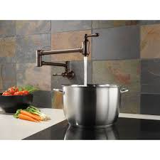 delta faucet 1177lf traditional polished chrome pot filler kitchen