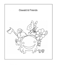 coloring pages oswald coloring pages mickey and the octopus nick