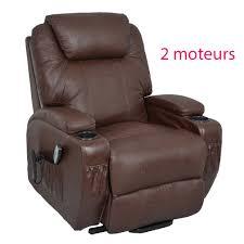 fauteuil lit relax massant chauffant releveur cuir kalinka 2 moteurs