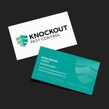 knockout pest business card design pulp pixel