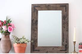 Reclaimed Wood Bathroom Mirror Small Mirror Small Wood Framed Mirror Wall Mirror Reclaimed