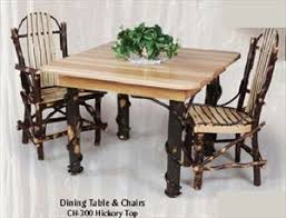 Hickory Dining Room Chairs by Amish Hickory Furniture Rustic Amish Hickory Furniture