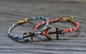 leather braided anchor bracelet images Nautical diy fishtail braided anchor bracelet styleoholic jpg