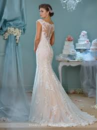 wedding dress lace back and sleeves illusion neckline wedding dress
