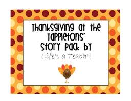 thanksgiving at the tappletons story pack by s a teach tpt