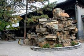 chengde city october 20 fake rock landscape architecture