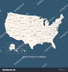 Untied States Of America Map by Usa Map Name Countriesunited States America Stock Vector 246431389