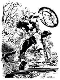 sketch captain america drawn by chris samnee comicbooks